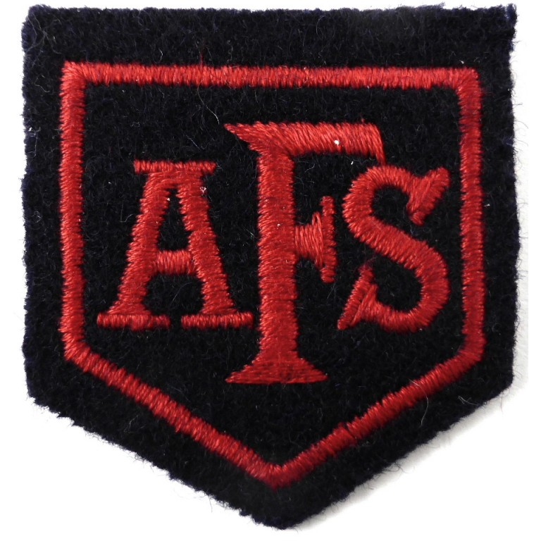 Auxiliary Fire Service Cloth Badge 51x55mm