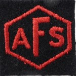 Auxiliary Fire Service Cloth Badge 40x40mm