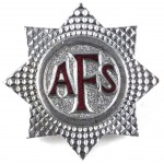 Auxiliary Fire Service Chrome Cap Badge