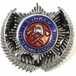 New Zealand Sumner Fire Service Chrome/Enamel Cap Badge