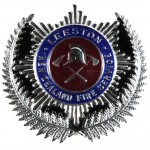 New Zealand Leeston Fire Service Cap Badge