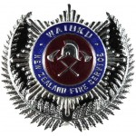 New Zealand Waiuku Fire Service Chrome/Enamel Cap Badge