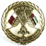 Dubai International Airport Civil Defence & Fire Service Chrome/Enamel Cap Badge