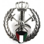 Kuwait Fire Service Chrome/Enamel Cap Badge