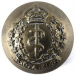 Royal Canadian Army Medical Corps Officers Button 26mm