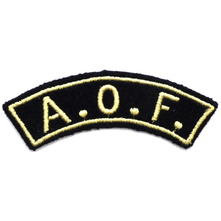 Ivory Coast Shoulder Title A.O.F.