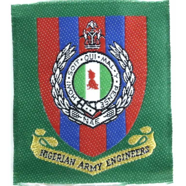 Nigerian Army Engineers Cloth Badge