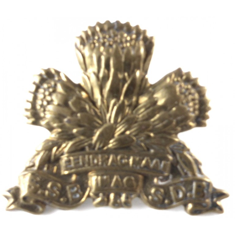 South Africa Special Service Battalion Brass Collar Badge