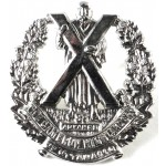 Canada The Cameron Highlanders Of Ottawa White Metal