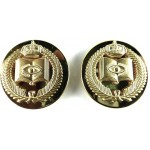 Saudi Arabia Army Religious Affairs Officers Gilt Brass Collar Badges