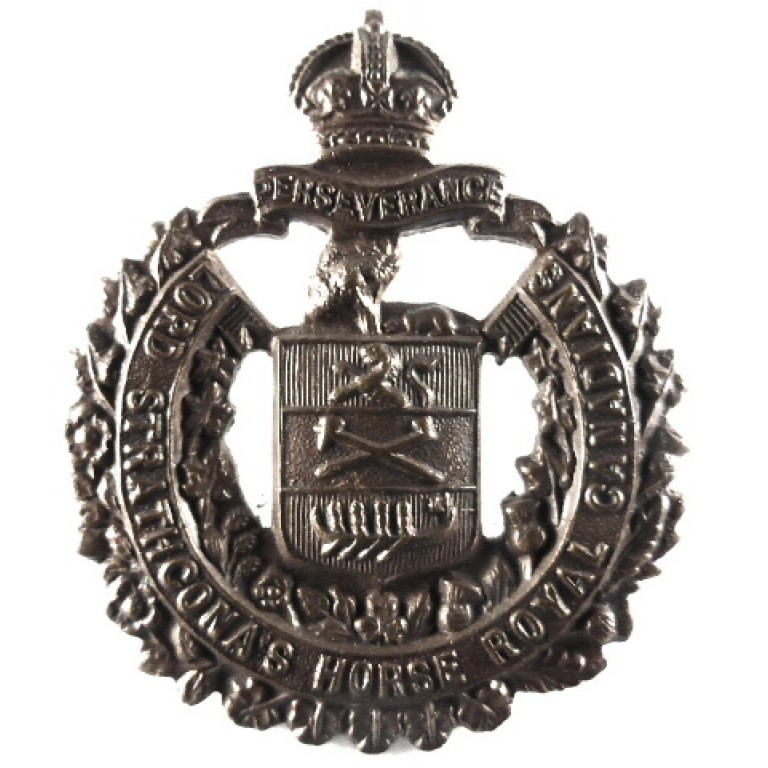 Canada Lord Strathconna`s Horse Bronzed Collar Badge