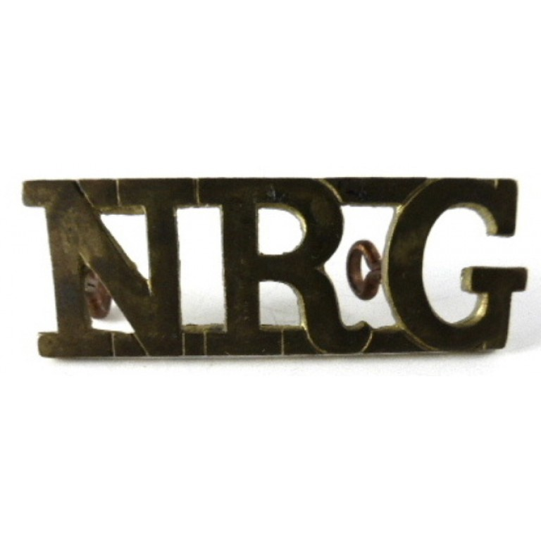 Northern Rhodesia Government Brass Shoulder Title