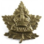 Canada WW2 General Service Brass Cap Badge