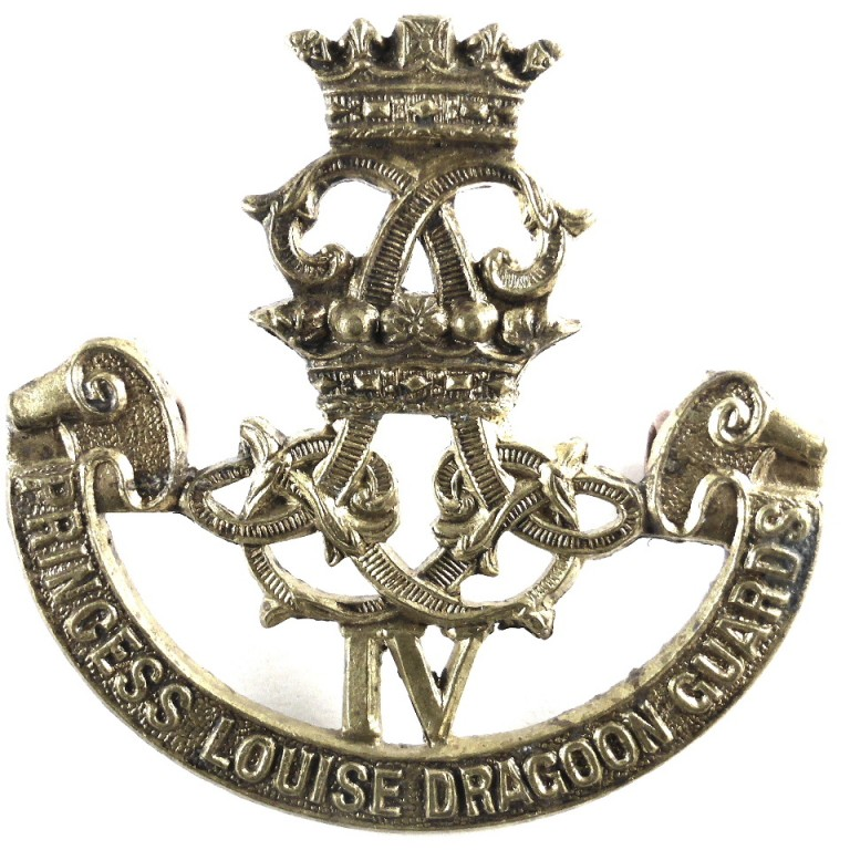 Canada 4th Princess Louise Dragoon Guards Brass Cap Badge
