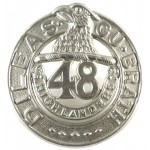 Canada 48th Highlanders White Metal