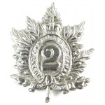 2nd Queens Own Rifles Of Canada White Metal