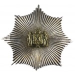Denmark Army Life Guards Large Silver Plate/Brass Helmet Badge