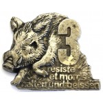 France 3rd Ardenne Hunters White Metal Badge