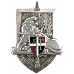 France 51st Infantry Regiment Enamel Breast Badge