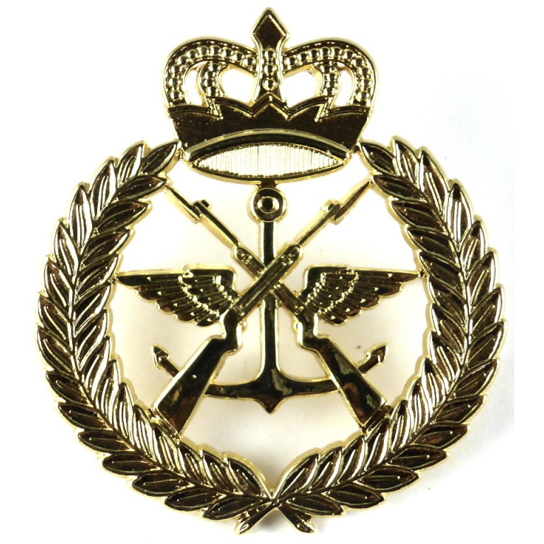 Kuwait Military Forces Brass Cap Badge