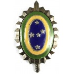 Brazil Military Officers White Metal/Enamel Rank Badge