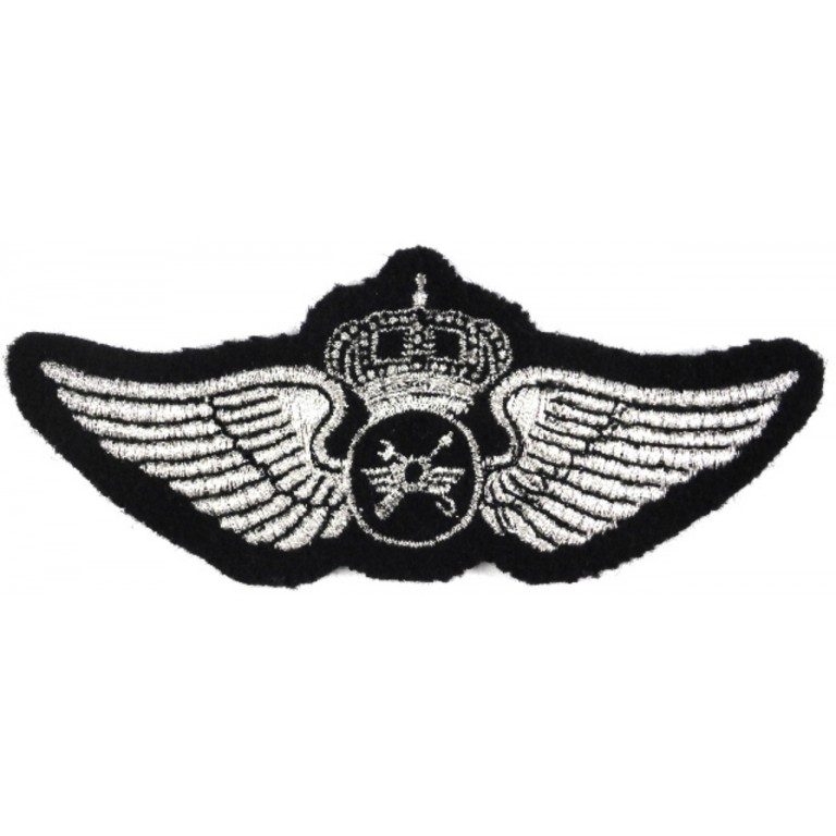 Saudi Arabia Flight Engineer Synthetic Wire Aircrew Wing Badge