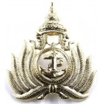 Thailand Navy Officers Brass Cap Badge