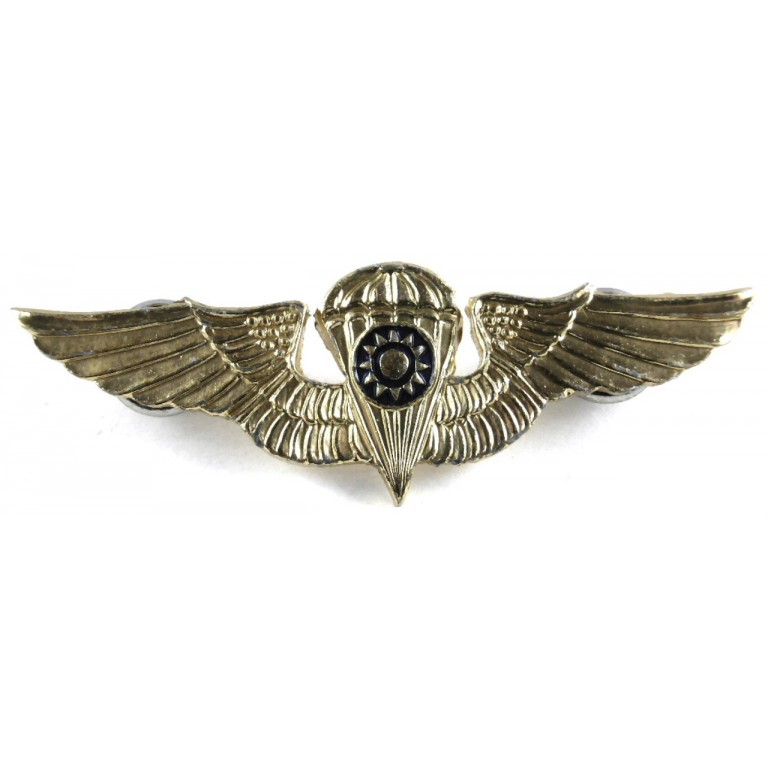 China Republic Army Parachutist Aluminium Mini Breast Badge 1948