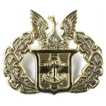 Greece Navy Officers Brass Cap Badge
