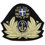 Royal Helenic Greece Navy Officers Bullion Wire Cap Badge