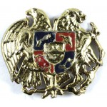 Armenia Army Cast Metal Military Cap Badge 33mm