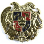 Armenia Army Cast Metal Military Cap Badge 46mm