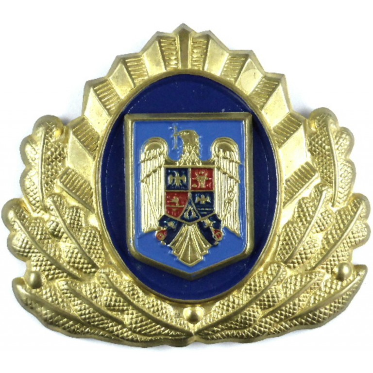 Romania Army Brass Military Cap Badge