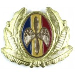 Romania Air Force Brass Military Cap Badge