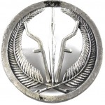 Djibouti Armed Forces White Metal Cap Badge