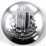Netherlands Municipal Police Chrome Button 23mm