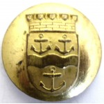 Sweden Gavle Police Gilt Button 23mm