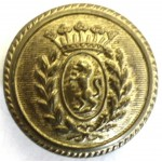 Italy Sulmona Police Brass Button 22mm