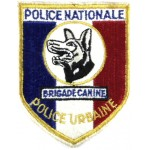 French National Police Canine Brigade Cloth Badge