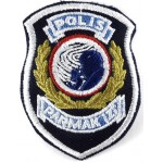 Turkey Finger Print Police Cloth Patch