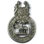 Sierra Leone Police White Metal Collar Badge