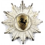 Niedersachen Police Officers Silver Plated Cap Badge