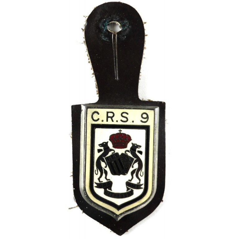 France C.R.S.9 Rennes Enamel Breast Pocket Fob Badge