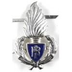 Italy Police White Metal Cap Badge