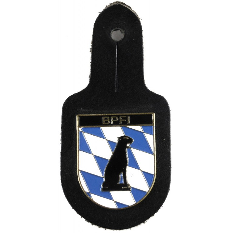 Bavarian Police P Hu St By Breast Pocket Badge
