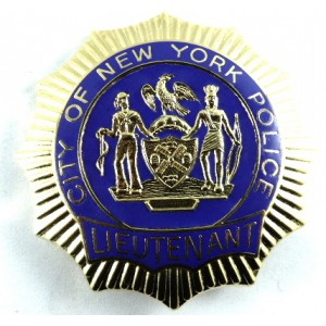 City Of New York Police Lieutenant Brass/Enamel Breast Badge Copy?