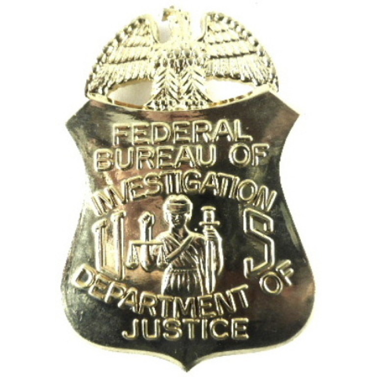 US Federal Bureau Of Investigation Brass Breast Badge Copy?