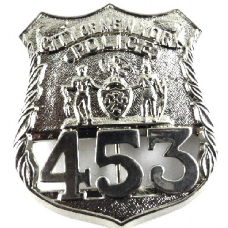 City Of New York White Metal Breast Badge