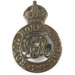 Royal Horse Guards GVR Bronzed Cap Badge