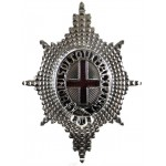 Coldstream Guards Officers Silver Plate/Enamel Cap Badge